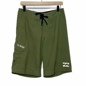 Billabong Army Green Surf Swim Trunks Board Shorts